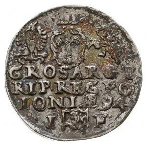trojak 1594, Olkusz, Iger O.94.8.d (R2), rzadsza odmian...