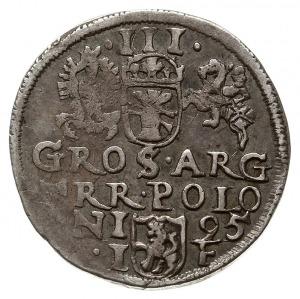 trojak 1595, Olkusz, odmiana ze znakiem ruszt pod popie...