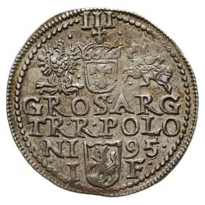 trojak 1595, Olkusz, Iger O.95.3.-/a (R5), bardzo rzadk...