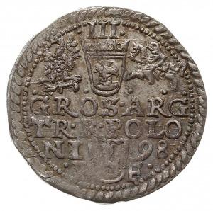 trojak 1598, Olkusz, typ popiersia króla z 1596 roku, I...
