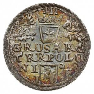 trojak 1598, Olkusz, Iger O.98.4.b, bardzo ładny