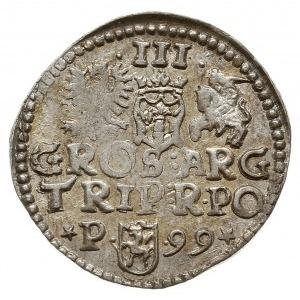 trojak 1599, Poznań, odmiana z interpunkcją w postaci g...