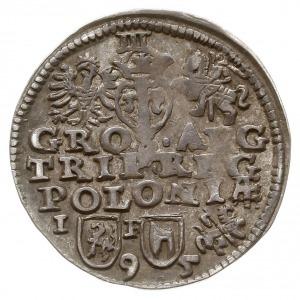 trojak 1595, Lublin, odmiana ze znakiem Topór, skrócona...