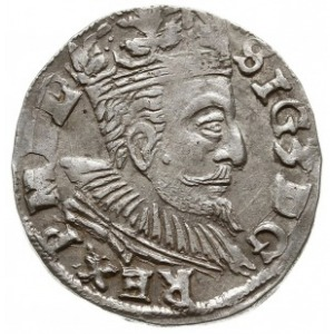 trojak 1597, Lublin, odmiana bez znaku mincerskiego, sk...