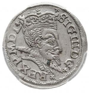 trojak 1598, Lublin, odmiana z pełną datą u dołu rewers...