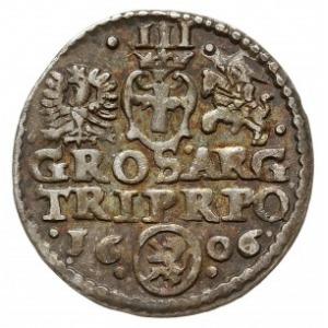 trojak 1606, Kraków, Iger K.06.3.a (R3), rzadki
