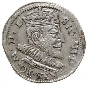 trojak 1591, Wilno, odmiana z listkami po bokach herbu ...