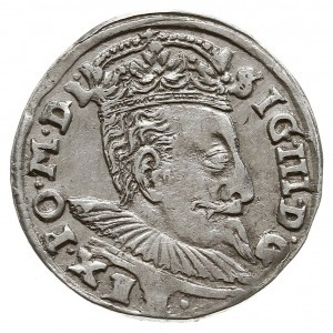 """trojak 1597, Wilno, herb Chalecki i """"lewek"""" przebity ha..."""