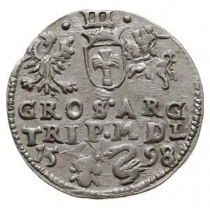 trojak 1598, Wilno, bardzo rzadka odmiana trojaka z her...