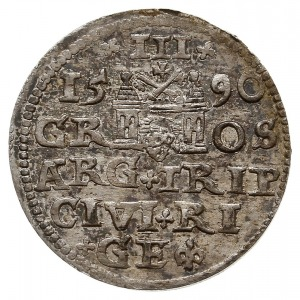 trojak 1590, Ryga, Iger R.90.1.d