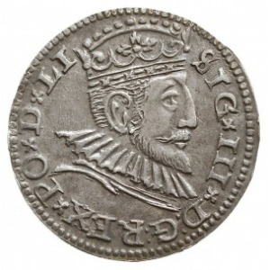 trojak 1592, Ryga, Iger R.92.1.b, bardzo ładny