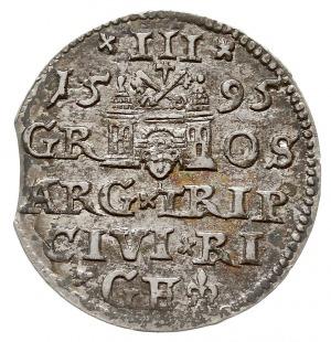 trojak 1595, Ryga, Iger R.95.1.c