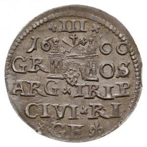 trojak 1600, Ryga, interpunkcja w postaci krzyżyków, Ig...