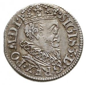 trojak 1619, Ryga, małe popiersie króla, Iger R.19.1.a ...