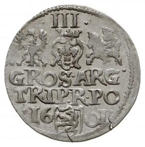 trojak anomalny 1601, z herbem Lewart na rewersie, Iger...