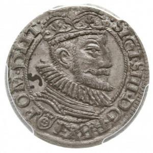 grosz 1594, Olkusz, Aw: Popiersie króla, w napisie otok...