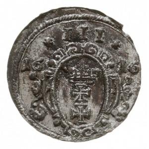 ternar 1616, Gdańsk, Aw: Orzeł, Rw: Herb Gdańska w owal...
