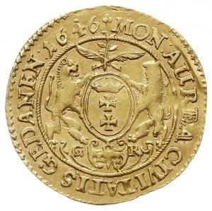 dukat 1646, Gdańsk, Aw: Popiersie króla w prawo i napis...