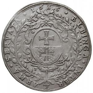 talar 1636, Elbląg, Aw: Popiersie króla trzy czwarte w ...