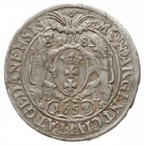 ort 1658/7, Gdańsk, odmiana z większym popiersiem króla...