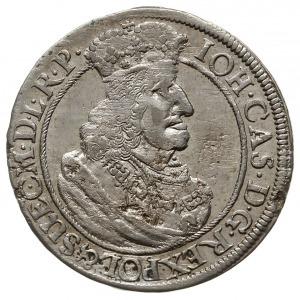 ort 1658, Gdańsk, odmiana z mniejszym popiersiem króla,...