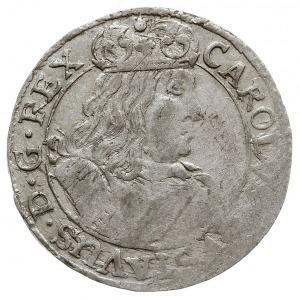 szóstak 1658, Elbląg, Aw: Popiersie Karola Gustawa i na...