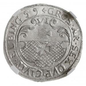 szóstak 1659, Elbląg, Aw: Popiersie Karola Gustawa i na...