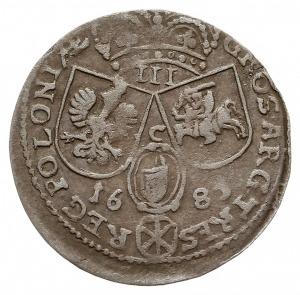 trojak 1685, Kraków, odmiana z literą B pod popiersiem,...