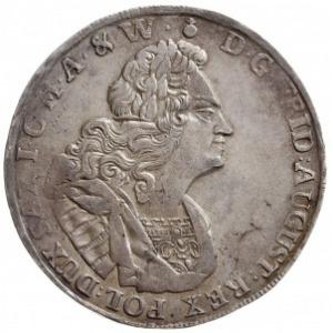 talar 1722, Drezno, Aw: Popiersie w prawo i napis wokoł...