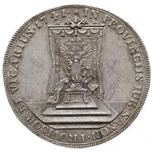 talar wikariacki 1741, Drezno, Aw: Król na koniu i napi...