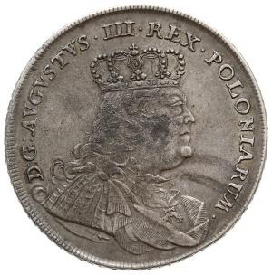 talar 1754, Lipsk, Aw: Popiersie i napis wokoło, Rw: Ta...