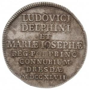 gulden (2/3 talara) okolicznościowy 1747, Drezno, Aw: N...
