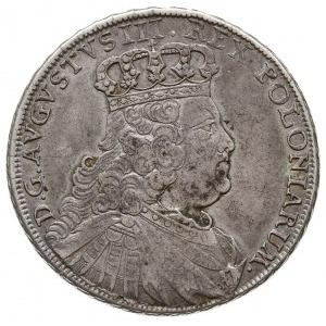 półtalar 1754, Lipsk, Aw: Popiersie w prawo i napis wok...