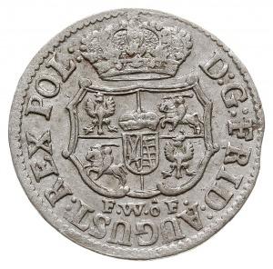 1/24 talara (grosz) 1738, Drezno, odmiana z hakiem pod ...