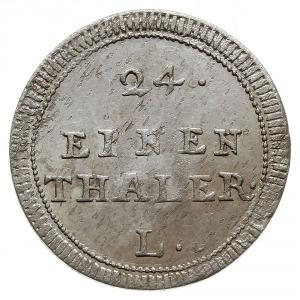 1/24 talara (grosz) 1753, Lipsk, Aw: Monogram królewski...
