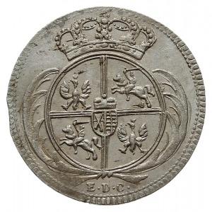 1/24 talara (grosz) 1754, Lipsk lub Drezno, z literą L ...