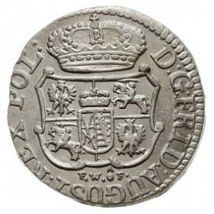 1/24 talara (grosz) 1754, Drezno, z hakiem pod datą i i...
