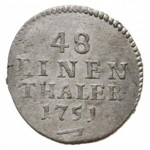 1/48 talara (półgrosz) 1751 FWôF, Drezno, Kahnt 601, ba...