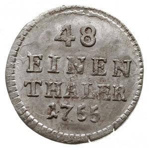 1/48 talara (półgrosz) 1755 FWôF, Drezno, Kahnt 604, pi...