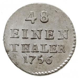 1/48 talara (półgrosz) 1756 FWôF, Drezno, Kahnt 604, wy...