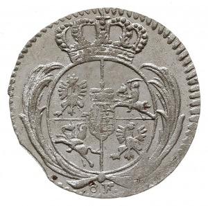 1/48 talara (półgrosz) 1756 ôF, Grünthal, Kahnt 605, źl...