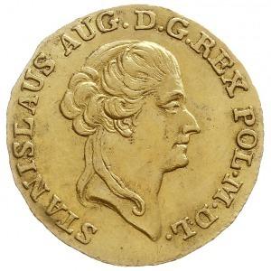 dukat 1789, Warszawa, Aw: Głowa króla w prawo i napis w...