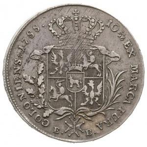 talar 1788, Warszawa, odmiana z dłuższym wieńcem, srebr...