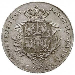 talar 1795, Warszawa, srebro 24.26 g, Plage 374, Dav. 1...