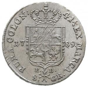 dwuzłotówka 1789, Warszawa, Plage 341, H-Cz. 3312, Bere...