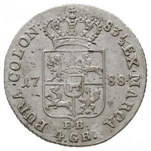 złotówka 1788, Warszawa, Plage 296, H-Cz. 3303, Berezow...