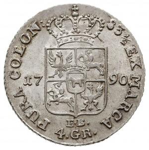 złotówka 1790, Warszawa, interpunkcja w postaci małych ...