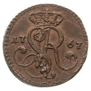 grosz 1767 G, Kraków, bardzo ładny