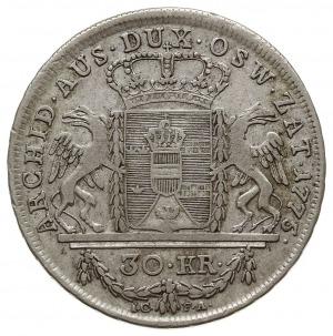 30 krajcarów 1775, Wiedeń, Plage 8, Eypeltauer 234, Her...