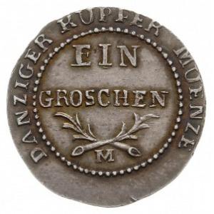 1 grosz 1812, Gdańsk, odbitka w srebrze 1.92 g, Plage 4...